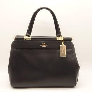 NWT COACH Grace Black Leather  Satchel Bag 31916